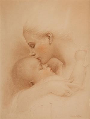 Мать и дитя. Инна Комарова